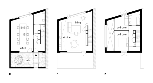 The Stripe House's floor plan