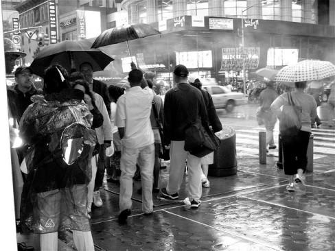 Rain in urban area